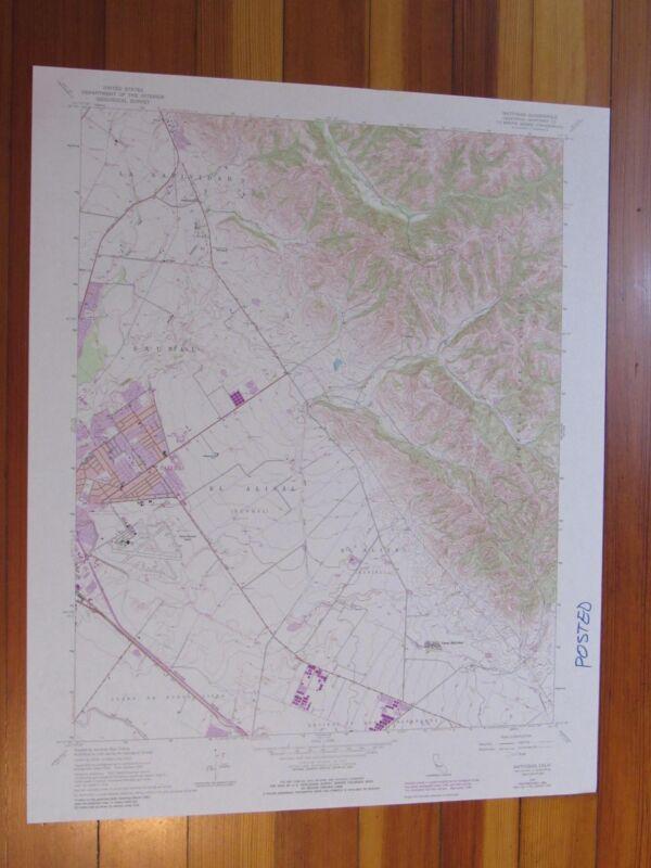 Natividad California 1984 Original Vintage USGS Topo Map