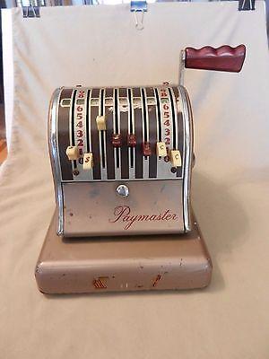 Vintage Paymaster Check Imprinting Machine 3826527 8 Column S-600 Still Works