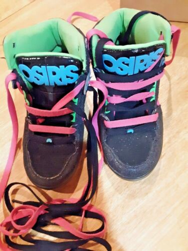 OSIRIS NYC83SV NYC 83 Pink Black Sz Size 6.5  Skateboard Sneakers Shoes