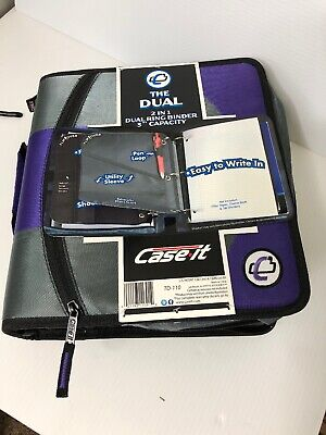 Nwt Case It The Dual 2 In 1 Dual Ring Binder 3 Capacity