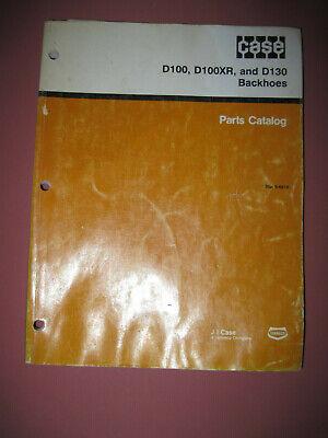 Original Case D100 D100xr D130 Backhoes Parts Catalog 8-6210 - June 1990