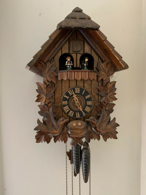 Bavarian Black Forest Cuckoo Clock, Musical, 1 Day - VIDEO Fully Functioning