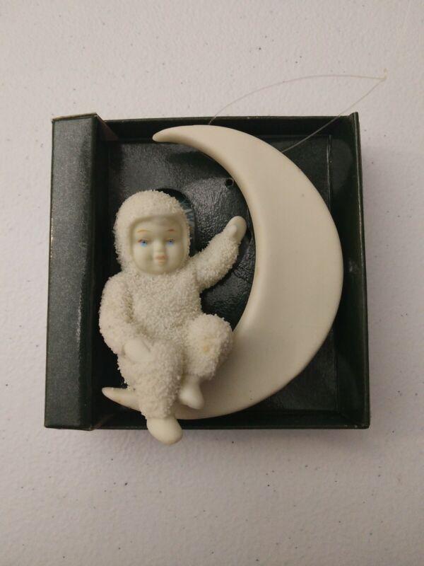 Department 56 Snowbabies Bisque Moon Beams Ornament #7951-0 VTG Christmas Dept56