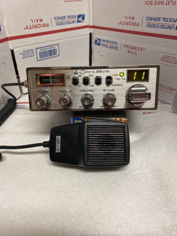 COBRA 25 LTD VARIABLE POWER-AUDIO MOD/ TUNED -SUPERSTAR MIC-TESTED WORKS GREAT