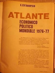 L-EUROPEO-ATLANTE-ECONOMICO-POLITICO-MONDIALE-1976-77-AA-VV-L-Europeo-1978-per