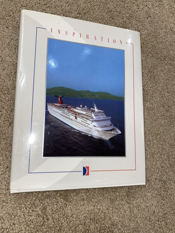 MS INSPIRATION -- Inaugural Book, 1996 -- Carnival Cruise Lines Rare