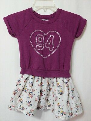 Old Navy Size 5T Girls Dress Floral '94 Purple Sweater