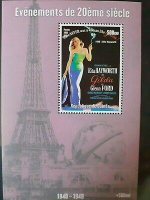 T134 Bloc feuillet GUINEE 1998 PARIS TOUR EIFFEL Rita HAYWORTH 500GNF MNH