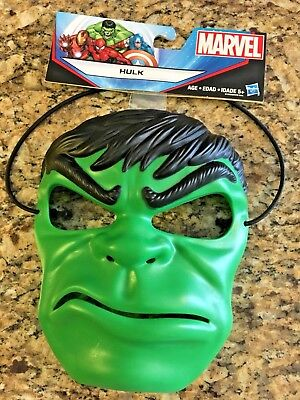 Marvel Hulk Mask by Hasbro - Durable Thick Plastic w/Extra Thick Head Strap - Mlp Halloween Special