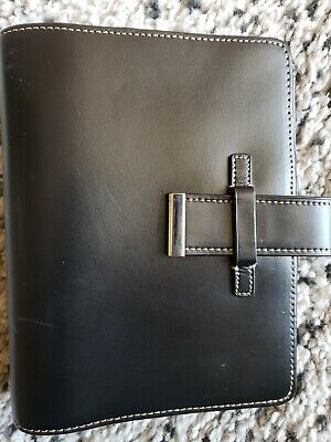 Brand New-franklin Covey 6 X 8 Planner Binder Black Gen Leather-1 12 Rings-
