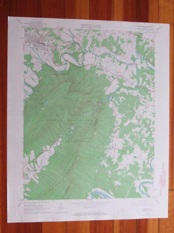 Strasburg Virginia 1967 Original Vintage USGS Topo Map