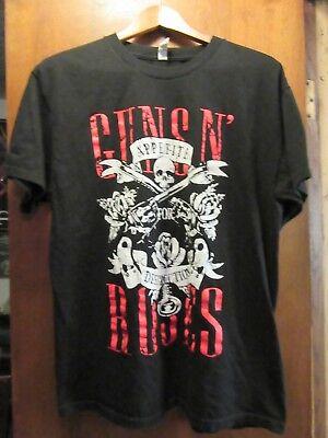 Guns N' Roses- Appetite For Destruction Lic OOP- Black T-Shirt- Large