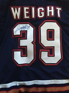 Weight signed Oilers jersey