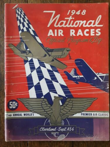 vintage 1948 National Air Races Cleveland Official Program 71 pages (NOT REPRO)