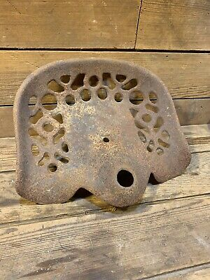 Antique Vintage Cast Iron Tractor Implement Seat Original Old Farm John Deere Mh