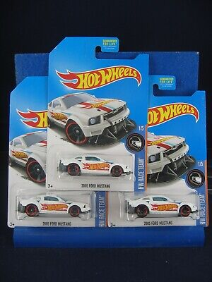 2017 HOT WHEELS 2005 FORD MUSTANG KMART EXCLUSIVE LOT OF 3