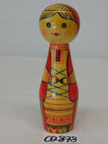 VINTAGE WOOD USSR RUSSIAN FOLK ART DOLL WOMAN-GIRL RARE