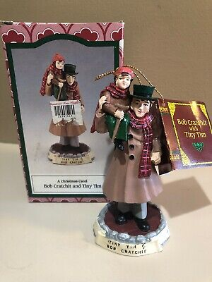 A Christmas Carol Bob Cratchit and Tiny Tim Figurine Novelino 1993 In Box ()