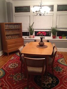 Vintage Mid Century Modern Dining Room Table 6 Chairs ...