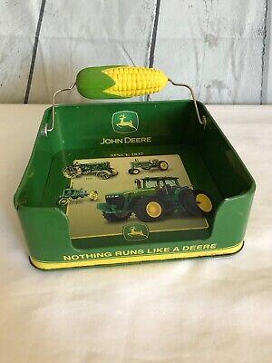 John Deere Napkin Holder Corn Cob Weight Tin Box Company Tinware