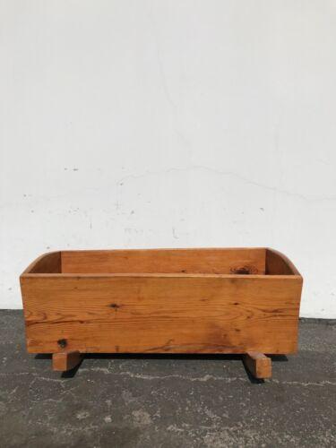 Antique Cradle Shaker Pine Wood Handmade Rocking Rocker Baby Crib Shabby Chic