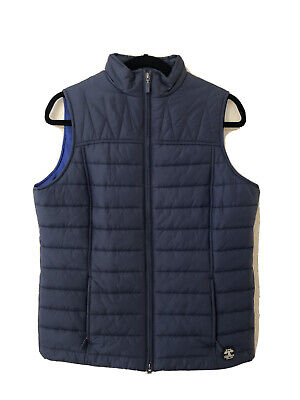 New Barbour Women's Brae Quilted Gilet Vest In Navy Size US 8/ UK 12
