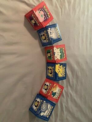 1999 POKEMON 23K Gold-Plated Limited Edition Trading Card Complete Set of 6!