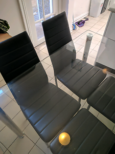 Glass dining table and 4 chairs Enmore Marrickville Area Preview