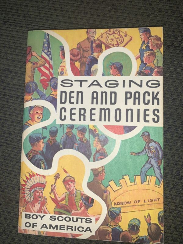 1973 Boy Scout Staging Den And Pack Ceremonies Book  BSA