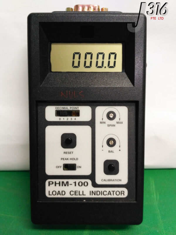 8839 TRANSDUCER TECHNIQUES LOAD CELL INDICATOR W/ LOAD CELL, THB-100-Q PHM-100