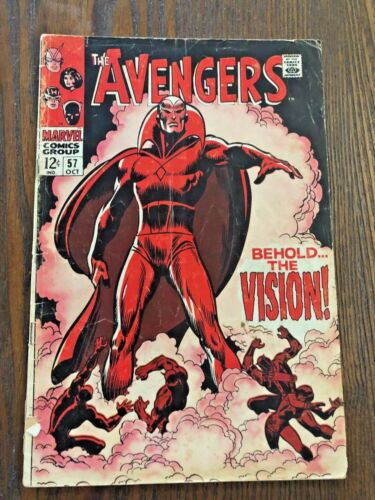 AVENGERS #57 1st Appearance Of THE VISION 1968 Marvel First App!