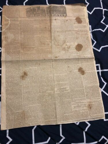 "Anti-Slavery Newspaper ""The Liberator"" Abolitionist William Lloyd Garrison 1846"