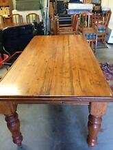 Distressed Timber Dining Suite c/w table and  8 chairs Black Rock Bayside Area Preview