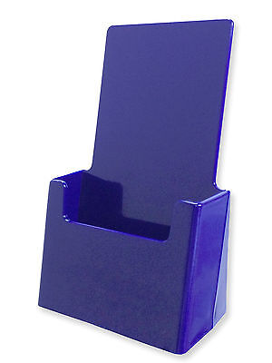 Blue Acrylic Tri-fold Brochure Holders Top Quality Made Usa Rack Card