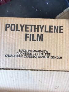 "Poly film 120"" x 75'ish - sold ppu Tuesday"