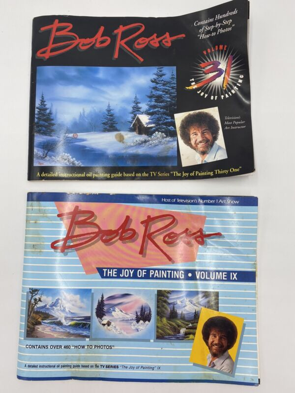 Bob Ross Joy Of Painting Volume 31/ Volume IX Oil Painting Guide Happy Painting