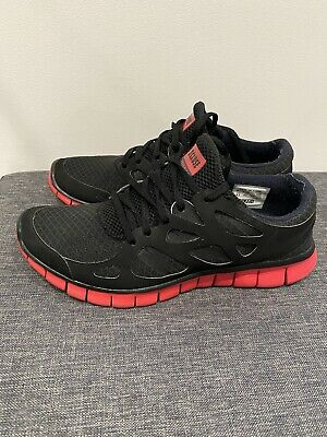 nike free run 2 Exclusive Black And Red Size UK 8.5