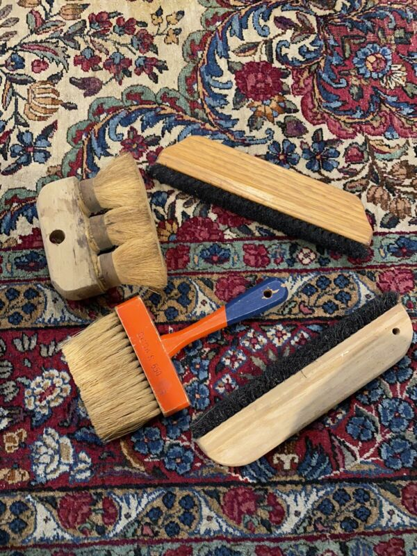 Lot 4 various ages of Wallpaper smoothing brushes modern to vintage Short Long