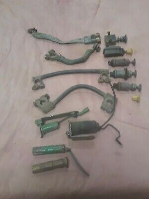 Vintage John Deere Tractor Electrical Parts Lot Used Battery Cables Switches
