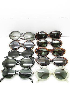 SET of 10 VINTAGE WOMENS OVAL ROUND EYEGLASSES FRAMES eyewear bulk lot TV6 S107