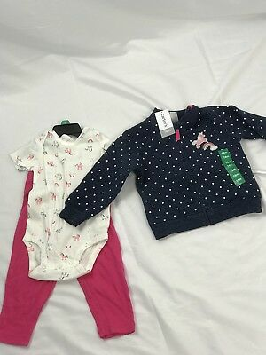 Carters Girls 3 Pieces Set Size 12m
