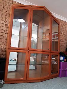 Vintage display cabinet.  Solid teek wood beautiful Toukley Wyong Area Preview