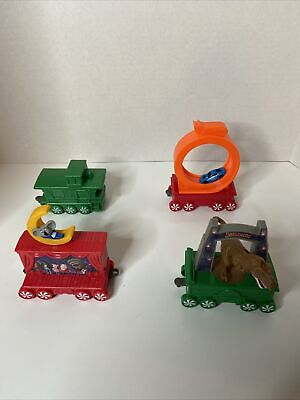 2017 McDonalds Happy Meal Holiday Express Christmas Train Car Set Lot of 4 Toys