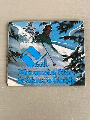 Vintage Vail Ski Resort Mountain Map & Skier's Guide 1979 Colorado Brochure