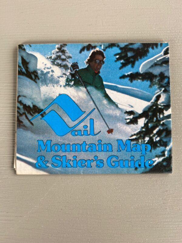 Vintage Vail Ski Resort Mountain Map & Skier
