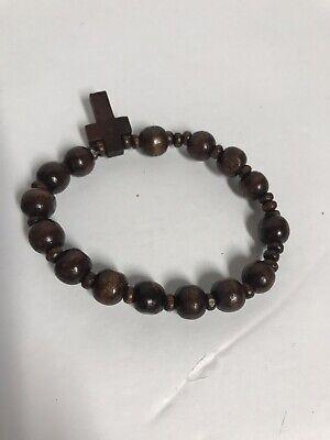 New Dark Brown Rosary Bracelet Catholic Jewelry Christianity 1 EACH Catholic Rosary Bracelets