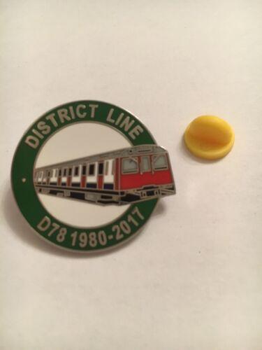 London Underground District Line Pin Badge