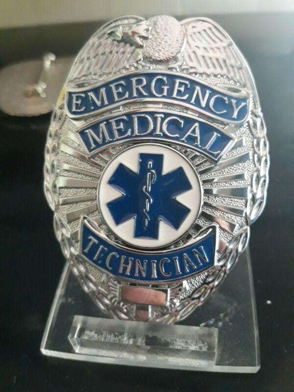 Emt emergence medical technician eagle shield made by badger BADGE full size