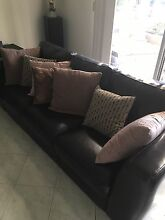 Pair of brown leather lounge 3 seater Salisbury Plain Salisbury Area Preview