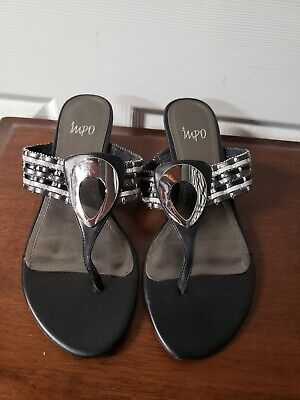 Size 9 Black Impo Sandals